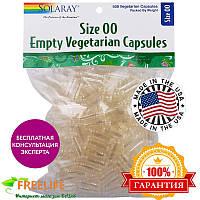 Solaray, Пустые растительные капсулы, размер 00, 500 вегетарианских капсул