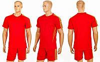 Футбольная форма Glow  (PL, р-р S-XL, красный-желтый, шорты красные), фото 1