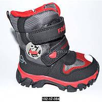 Зимние ботинки для мальчика, 25 размер, мембрана, термоботинки, сноубутсы
