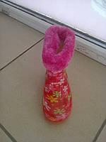 Детские резиновые сапожки утепленные размеры 22-29, фото 1