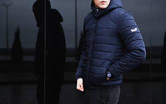 Мужская зимняя куртка Pobedov Winter Jacket Rise (Navy) (Победов Райз) темно-синияя