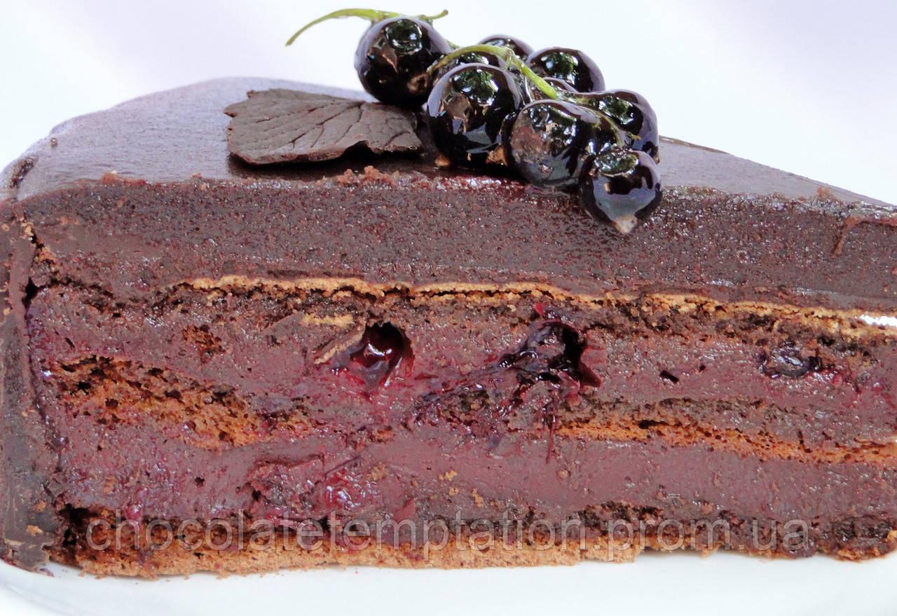 Шоколадно-смородиновый торт Чуао