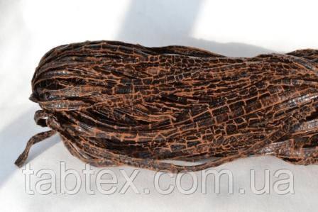 Бейка из искусственной кожи рептилия рыжая