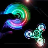 Спиннер (spinner) LED прозрачный
