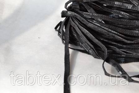 Бейка из искусственной кожи рептилия черная
