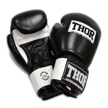 Боксерские перчатки Thor Sparring 10, Синтетическая кожа, черный