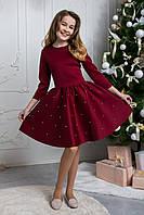 Нарядное красное платье неопрен ТМ Сьюзи рост 152-158