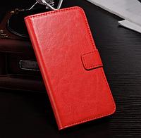 Кожаный чехол книжка для  Nokia Lumia 625 красный