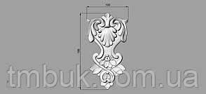 Вертикальный резной декор 13 - 100х186 мм, фото 2