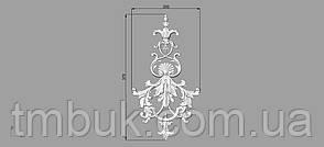 Вертикальный резной декор 23 - 200х370 мм, фото 2
