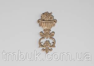 Вертикальный резной декор 36 Ваза с цветами - 120х260 мм, фото 2