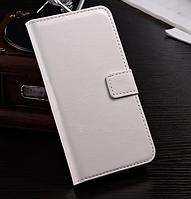 Кожаный чехол книжка для  Nokia Lumia 625 белый