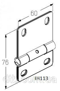 Петля IH113 для ворот гаражных Alutech