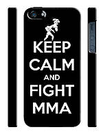 Keep calm and fight MMA чехол для iphone 5/5