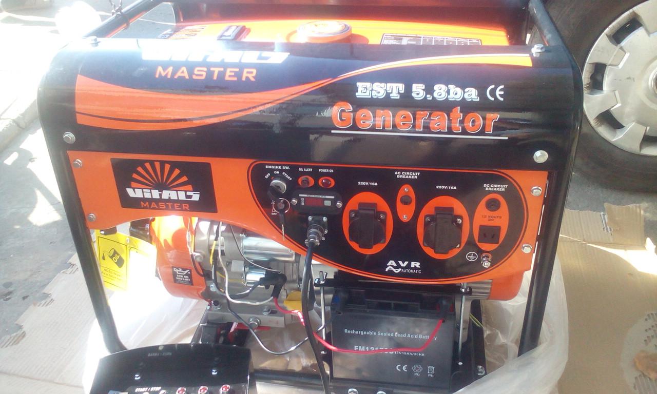 Бензиновий генератор Vitals EST 5.8 ba автоматика