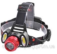 Фонарь налобный светодиодный -аккумуляторный