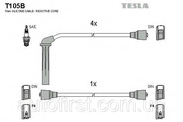 Высоковольтные провода Tesla T105B