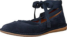 Туфли без каблука (Оригинал) Frye Helena Ankle Tie Navy Soft Oiled Suede, фото 2