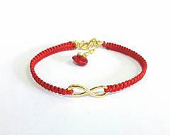 Браслет Infinity Red