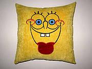 Сувенирная автомобильная подушка Губка Боб