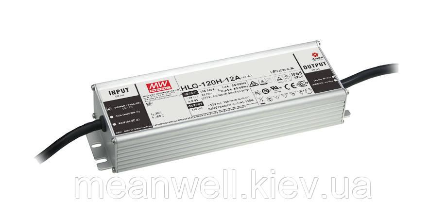 HLG-120H-36A  Блок питания  Mean Well 122,4вт, 3,4А, 33 ~ 40в  IP67 влагозащищенный