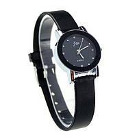 """Часы женские кварцевые наручные """"JW"""" с чёрным циферблатом"""