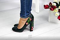 Туфли с вышивкой  материал  эко-кожа р 36 37 38 39