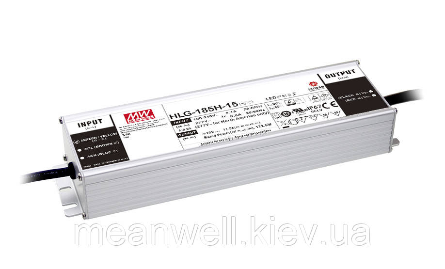 HLG-185H-48A Блок питания Mean Well 187,2 вт, 3,9 А, 43 ~ 53в IP67