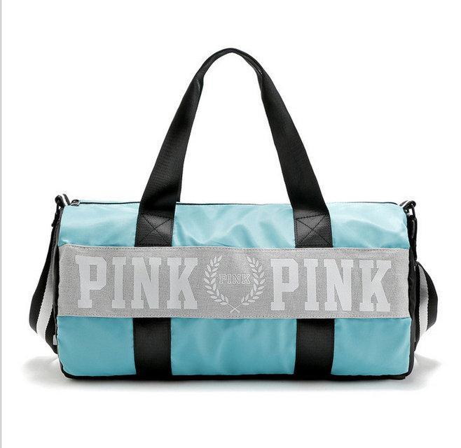 Сумка спортивная, дорожная текстильная бирюзовая Victoria's Secret Pink