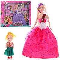 Кукла с нарядом G13-11 (24шт) 28см, дочка 10см, платья, микс видов, в кор-ке, 42-33-5,5см