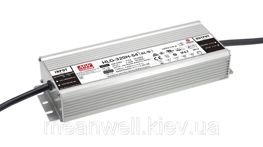 HLG-320H-42B Блок питания Mean Well 321,3 вт, 7.65A, 42в  IP67.