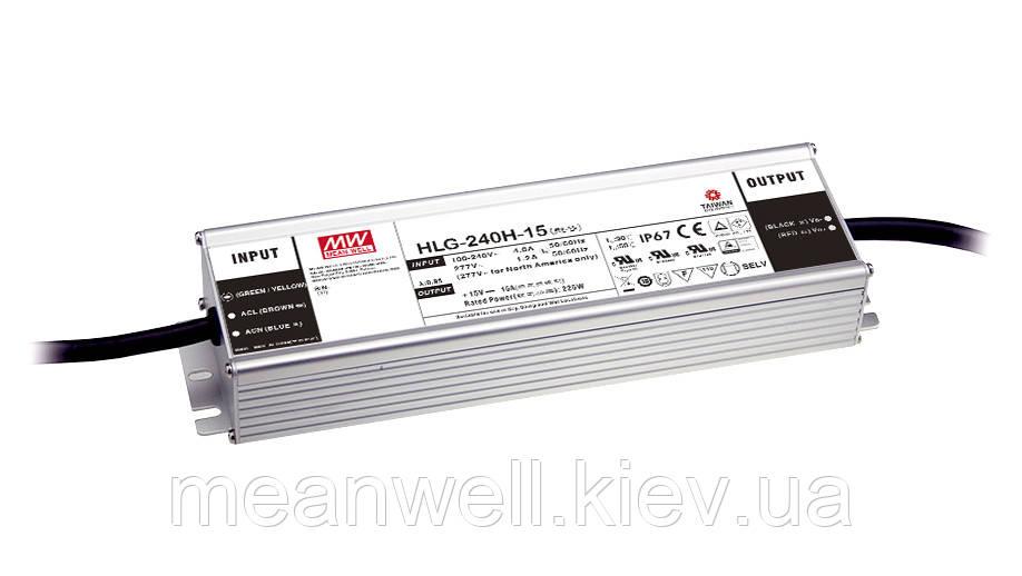 HLG-240H-12B Блок питания Mean Well 192вт, 16А, 11.2 ~ 12.8 в  ІР67