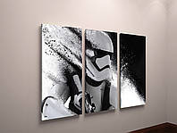 Картина модульная три части Звездные войны Star Wars 90х60