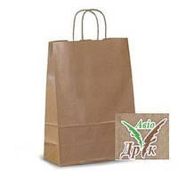 Бумажные пакеты бурый крафт (260х140х340)- 80г