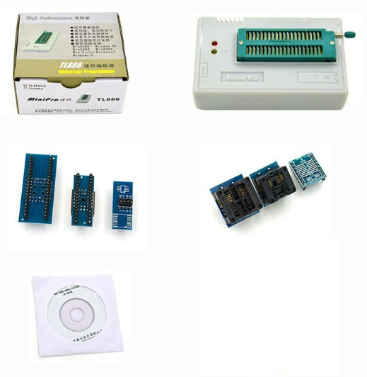MiniPro TL866CS USB программатор + 6 адаптеров
