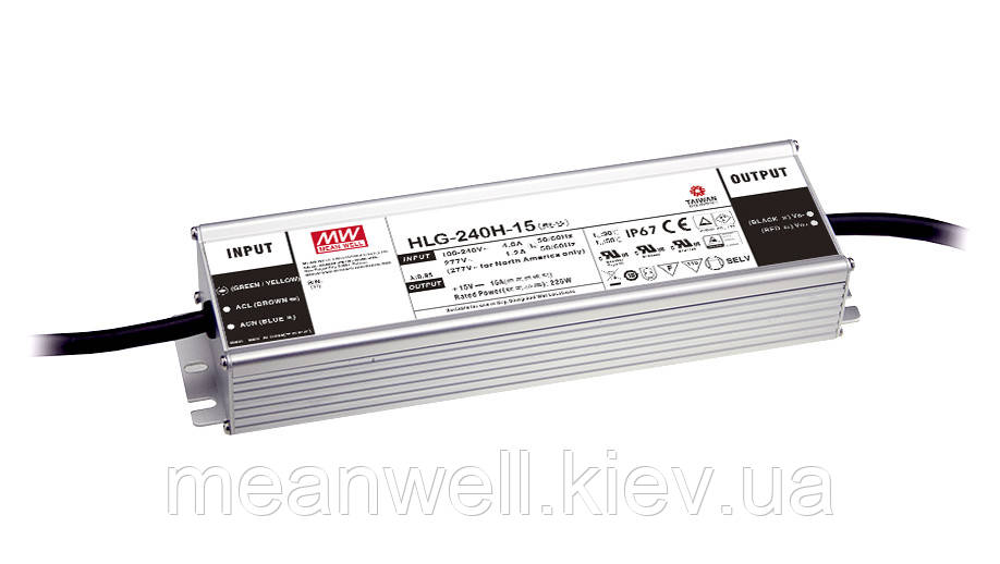 HLG-240H-C1050A  Блок питания Mean Well 249.9 вт, 525 ~ 1050mA IP65