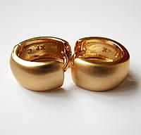 Серьги Xuping матовые маленькие, ширина 5 мм