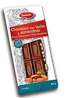 Шоколад молочный с орехами Dulcinea Leche y Almendras