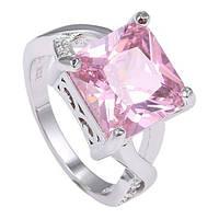 Кольцо женское с камнем циркония