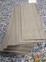 Готовые пакеты из крафт бумаги поштучно 220х90х42 мм по типу саше (для чая, кофе, выпечки, еды), фото 1