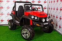 Детский электромобиль двухместный джип Buggy S 2588, красный