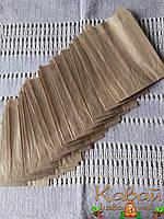 Готовые пакеты из крафт бумаги поштучно 145х90х40 мм по типу саше (для чая, кофе, выпечки, еды)