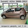 Молдинги на двери Suzuki Alto 2008-2013