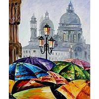 "Картина по номерам ""Яркие зонтики"" арт.2136 Идейка"