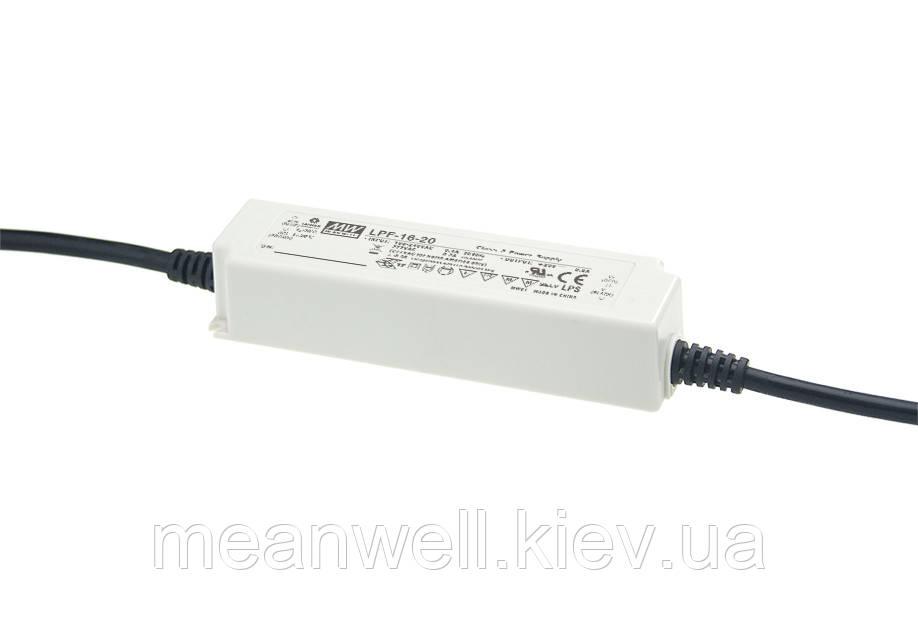 LPF-16-12 AC/DC LED-драйвер MeanWell 16.08 Вт, 6.6-12В, 1.34А