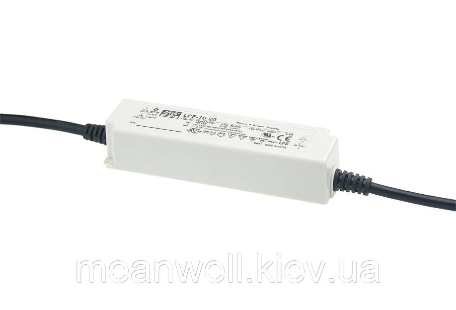 LPF-16-20 AC/DC LED-драйвер MeanWell 16Вт, 11-20В, 0.8А