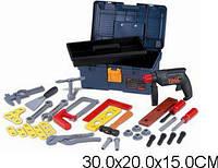 Игрушечный набор инструментов tegole t106d в чемодане