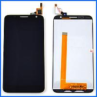 Дисплей (экран) для Alcatel OT 6050Y One Touch Idol 2S, 6050D + тачскрин, черный