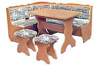 Кухонный уголок Фараон с раскладным столом и 2 табурета. Честная цена!