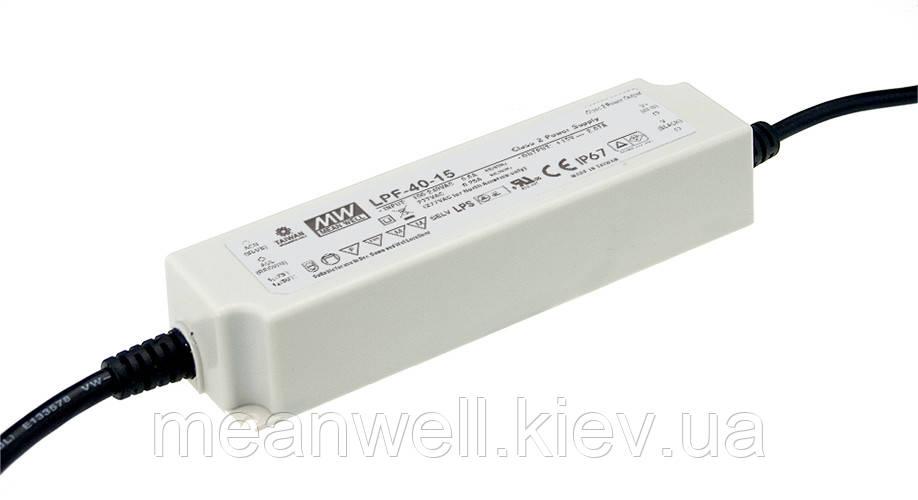 LPF-40D-36 Блок питания 30В MeanWell  40.32 Вт, 36В, 1.12А драйвер светодиода с диммированием